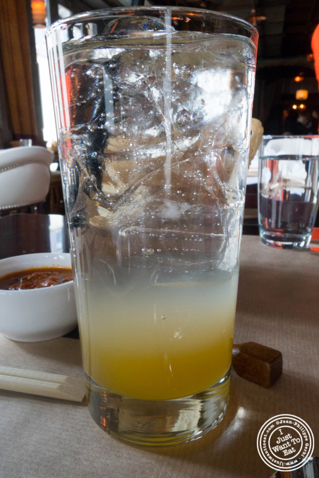 image of calamansi soda at Spice Market in the Meatpacking District, NYC, New York