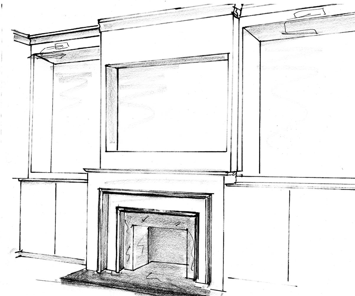Installing A Fireplace Insert Fireplace Fireplace Drawing ~ dact.us