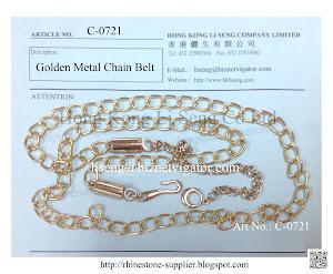 Golden Metal Chain Belt Supplier - Hong Kong Li Seng Co Ltd