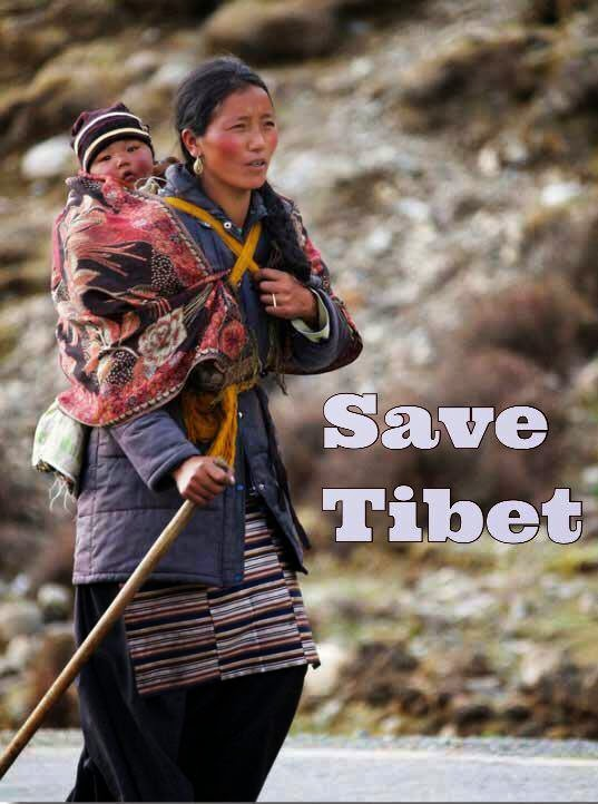 Save Tibet. Photo: United Nations for a Free Tibet