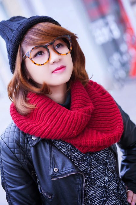Gái đẹp với phong cách thời trang mùa đông