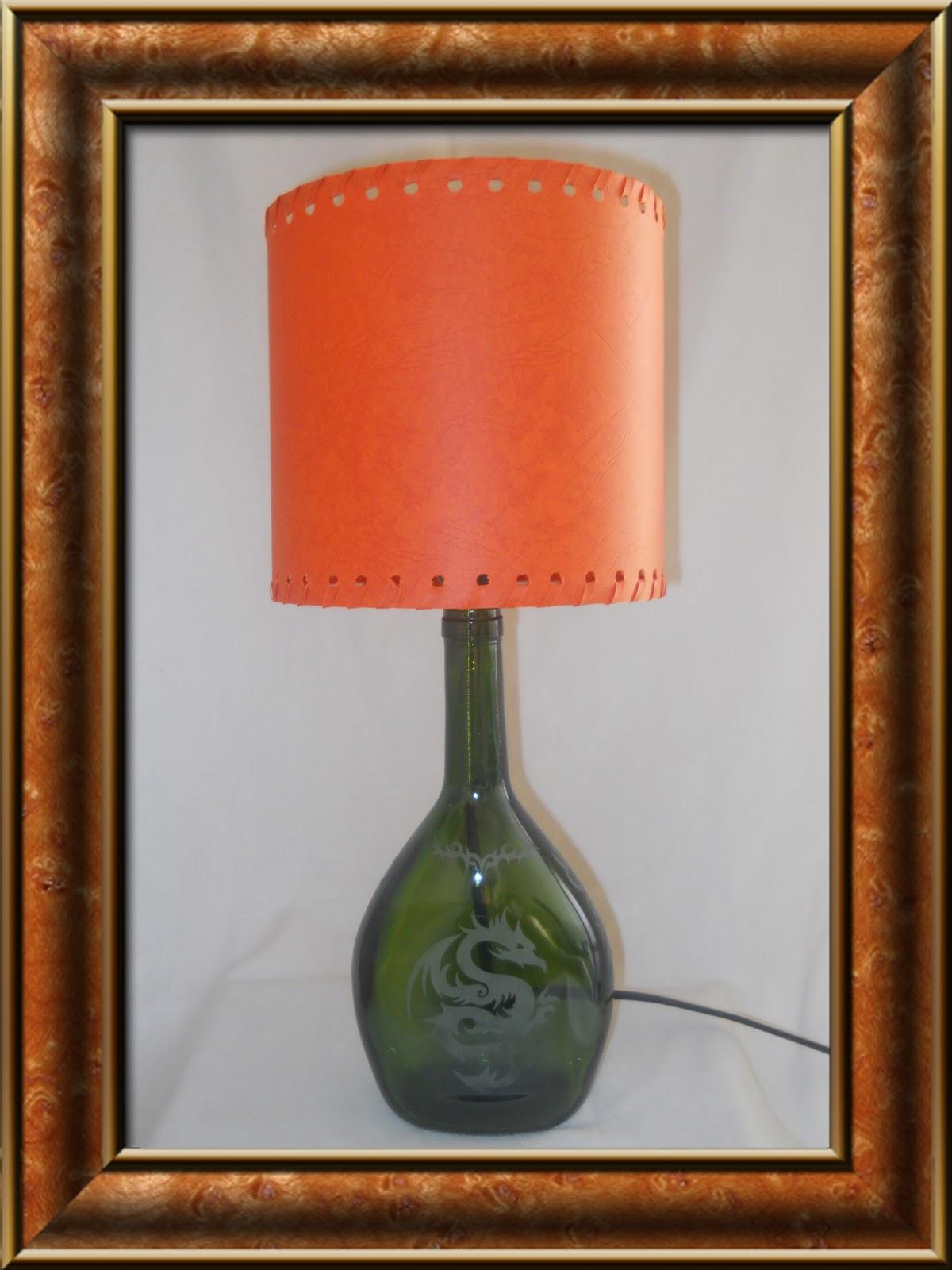 Arte con botellas de vidrio lamparas de mesa - Lamparas con botes de cristal ...