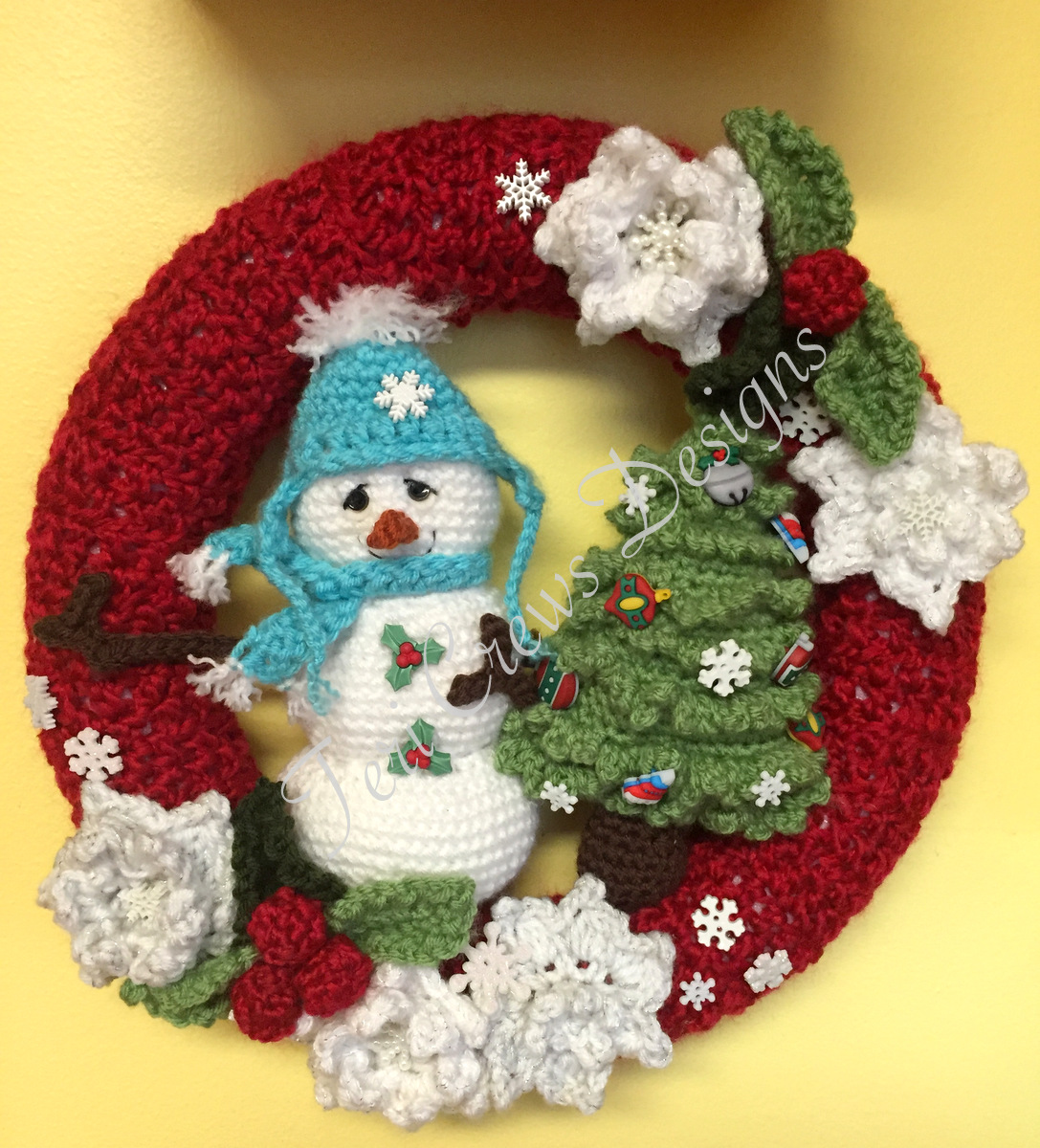 Teri\'s Blog: New Winter Wreath Crochet Pattern
