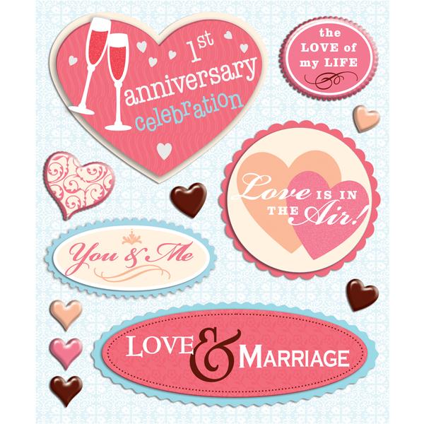 Scrapbook Bazaar New Wedding Anniversary Stickers