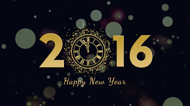 2016 Happy New Year HD Black Back Ground Photos