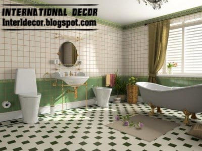 Modern Floor Tiles Design Ideas For Bathroom, Green Bathroom Floor Tiles  Design