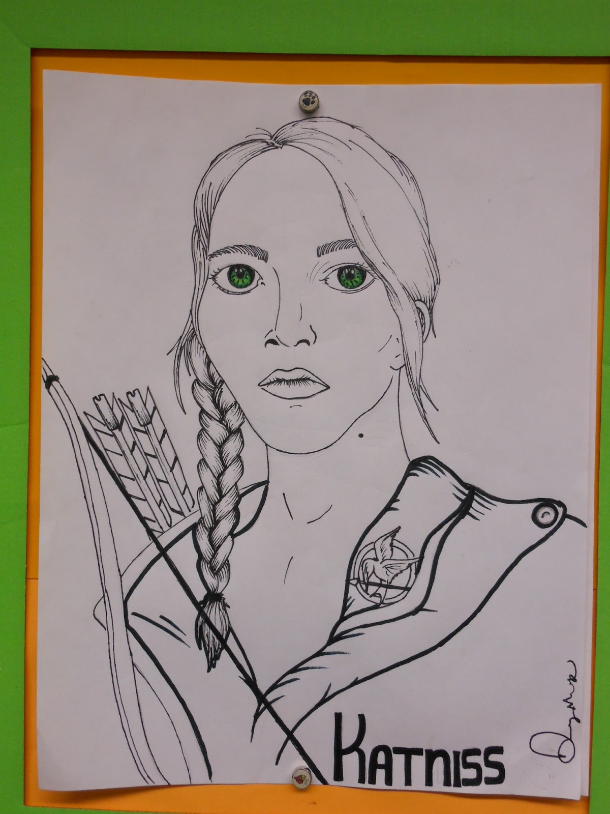 What pictures represent katniss everdeen yahoo answers - Katniss Everdeen By Danny Mask 2012