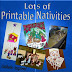 Printable Nativity activities, coloring pages, cupcake toppers, and more!