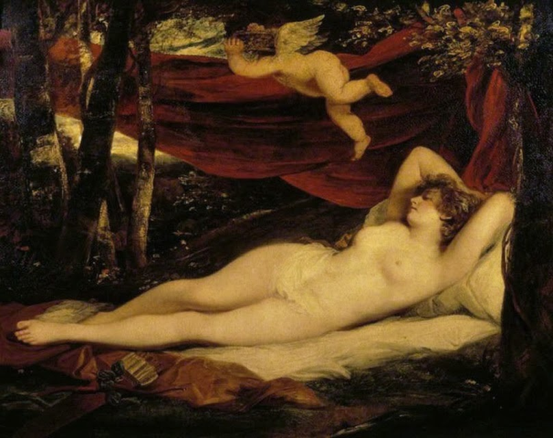 Sleeping Nymph and Cupid (John Hoppner, 1806)