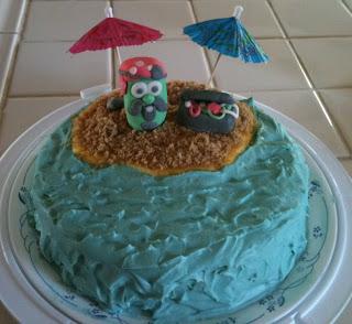 Veggietales pirate cake