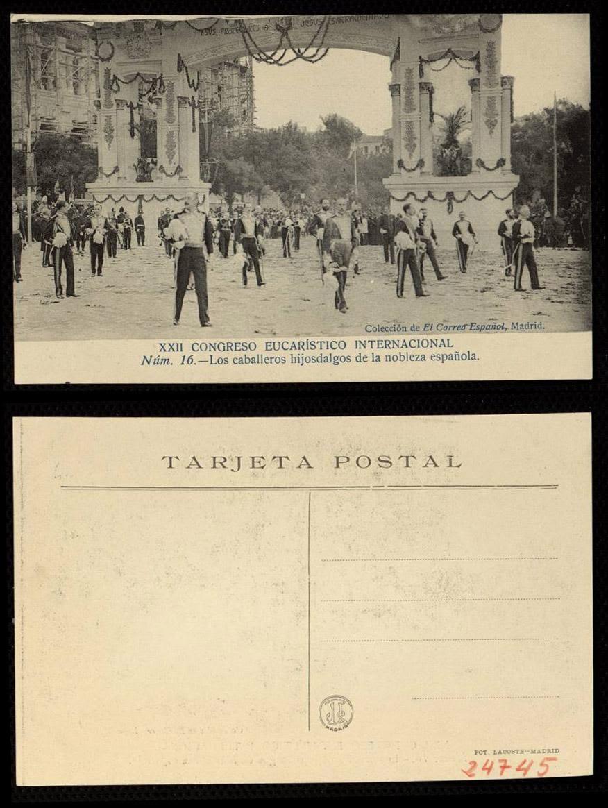 Real Cuerpo Nobleza de Madrid: XXII Congreso Eucarístico Internacional (1911)