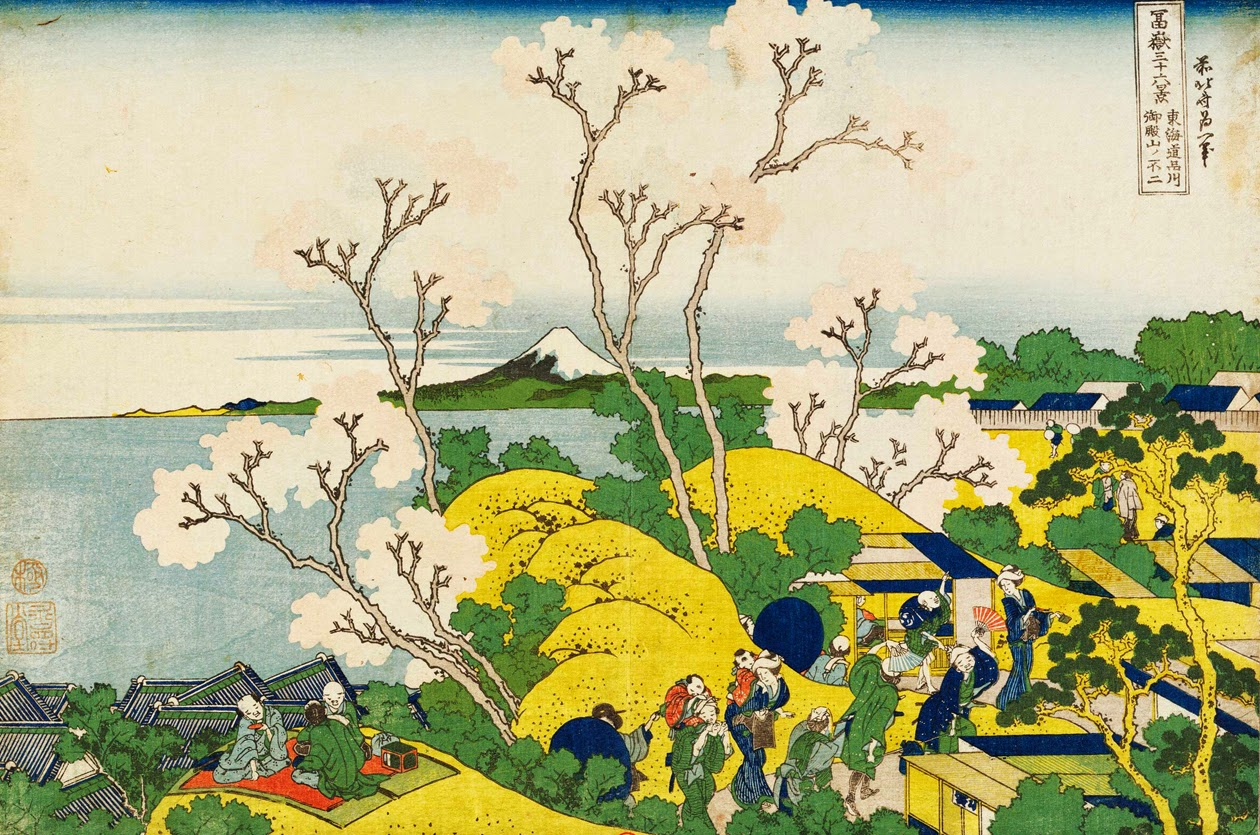 Hokusai, mont fuji vu du Goten yama à Shinagawa sur route tokaido