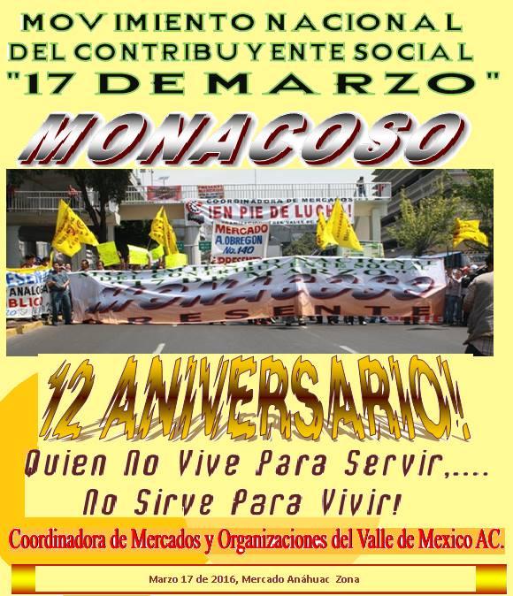 XII ANIVERSARIO DEL MOVIMIENTO 17 DE MARZO
