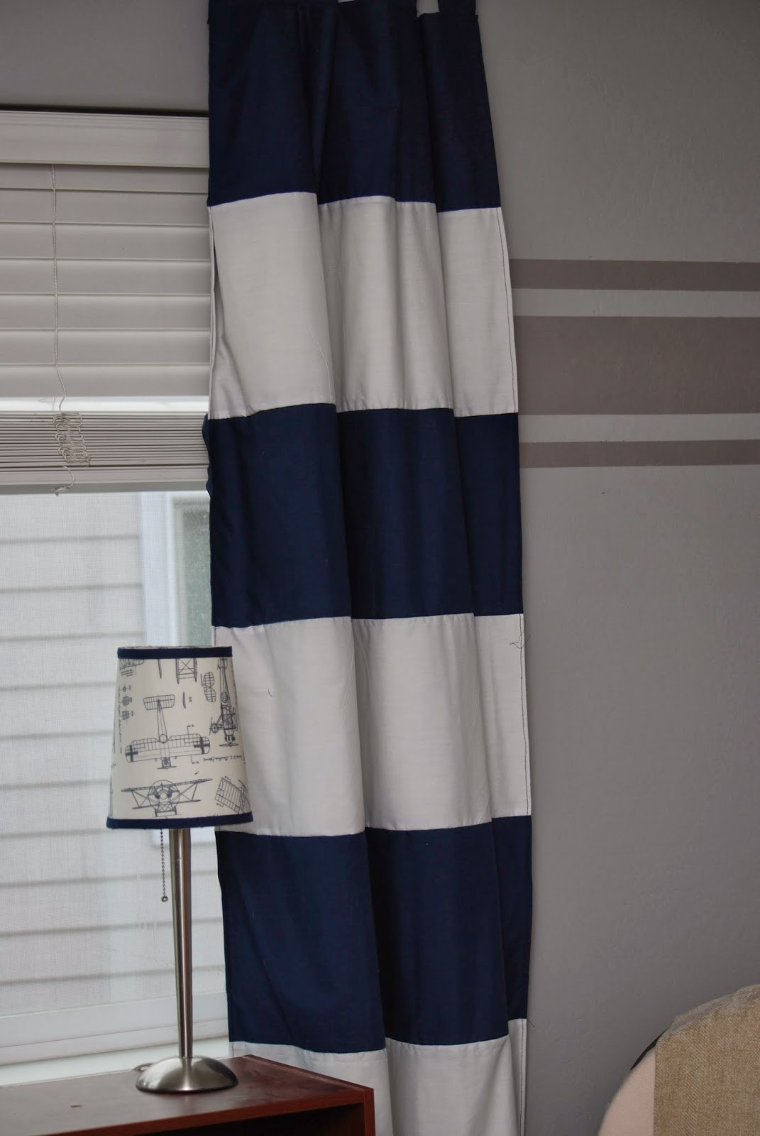 Navy and white striped curtains nursery navy and white curtains