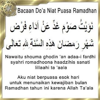 Bacaan Doa Niat Berbuka Puasa Dan Makan Sahur Ramadhan