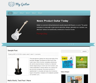 My Guitar Blogger Template