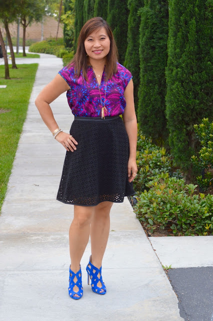 eyelet and floral