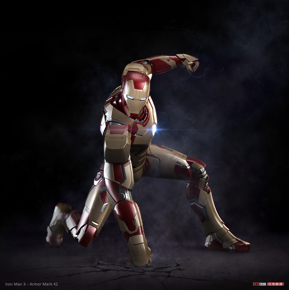 5K'3D: Iron Man 3 - armor Mark 42
