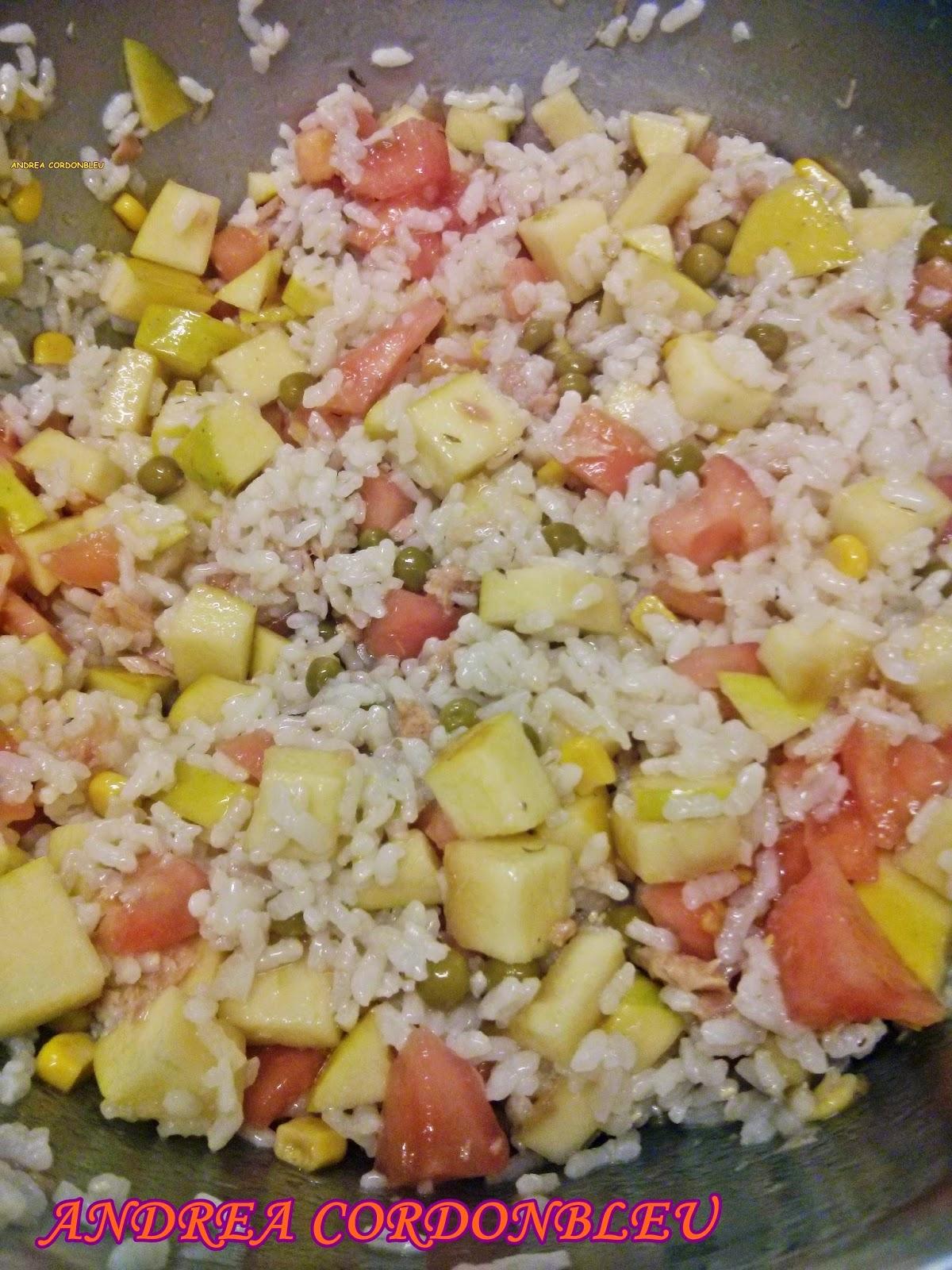 Cordonbleu ensalada veraniega de arroz con at n y manzana - Ensalada de arroz y atun ...