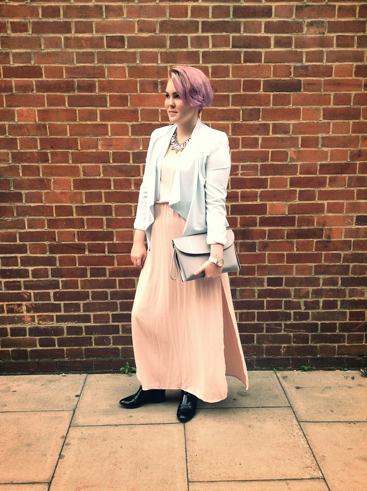 LFW street style pastel outfit