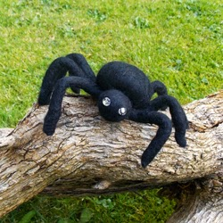Felted Spider made from wool