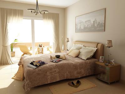 diseño dormitorio color tierra