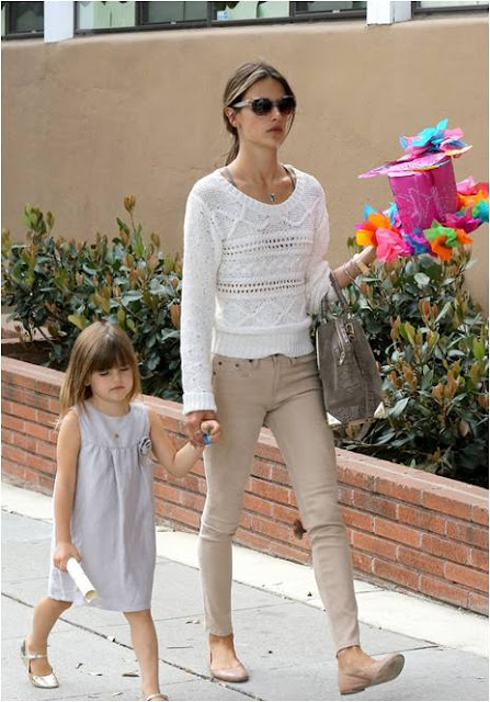 Alessandra Ambrosio's Daughter, Anja in Pale Cloud