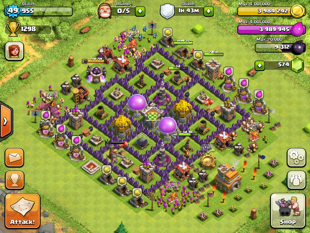 Clash of Clans Town Hall 7 Defense