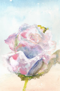 Pink Rose Water Color