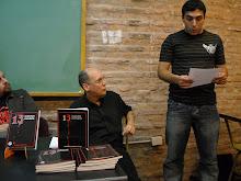 con el escritor Diego Garcia en la UNQUI