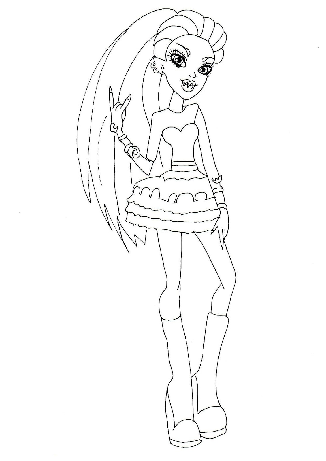 Free Printable Monster High Coloring Pages Venus High Coloring Pages To Print Out
