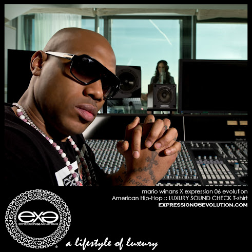 "SUPER MUSIC PRODUCER ""MARIO WINANS"" WEARING EX.E IN THE STUDIO"