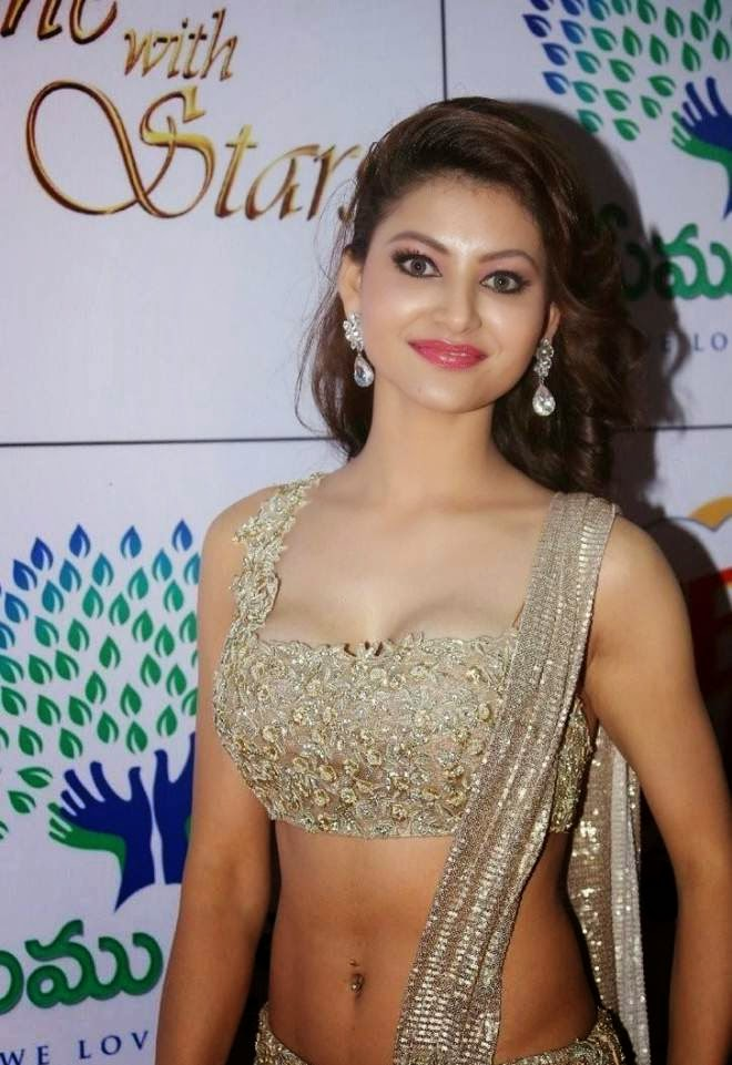 Urvashi Rautela Cleavage and Navel Photo