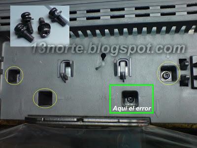 TC-L32C3M tornillos del soporte (pie)