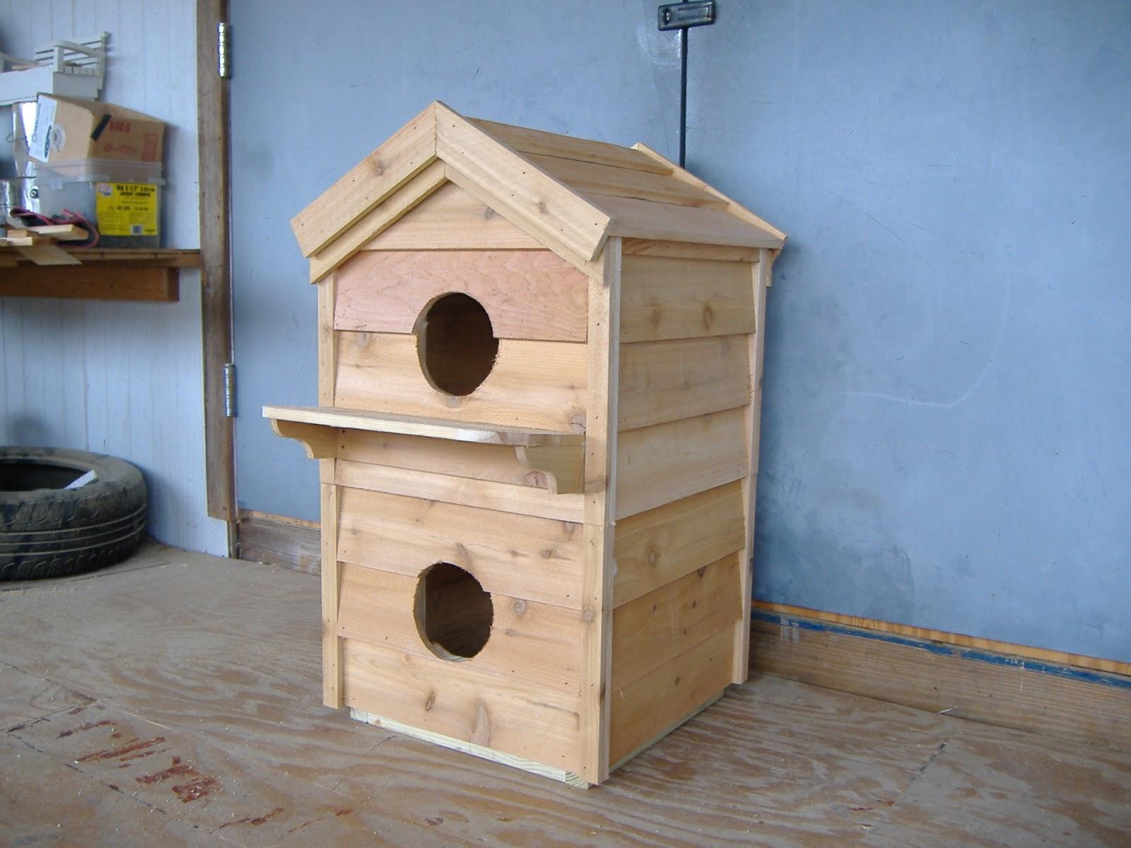 Custom cat houses ac heated insulated dog house