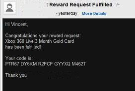 Free Xbox Live 3 Month Gold Card E-mailed