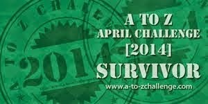 A to Z Blog Challenge 2014  Survivor