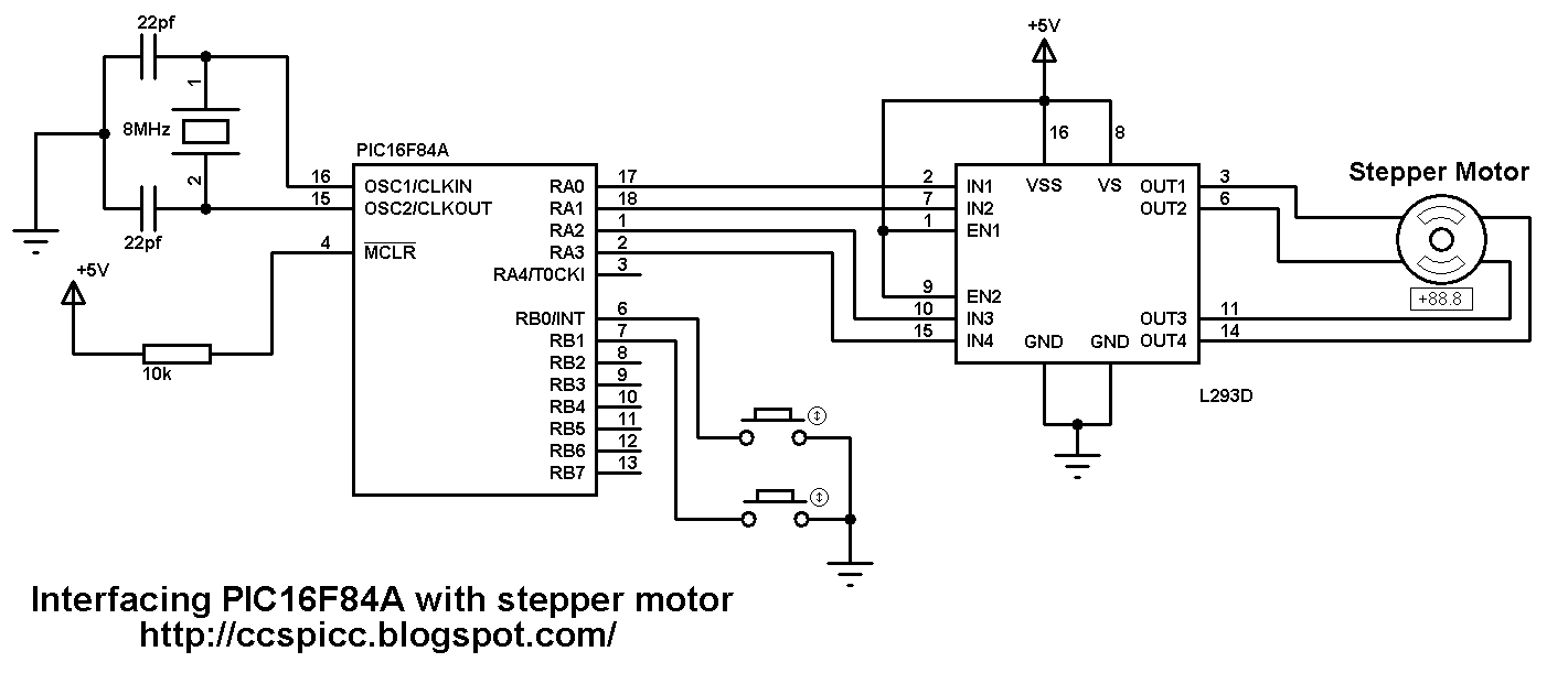 Interfacing Pic16f84a Microcontroller With Stepper Motor