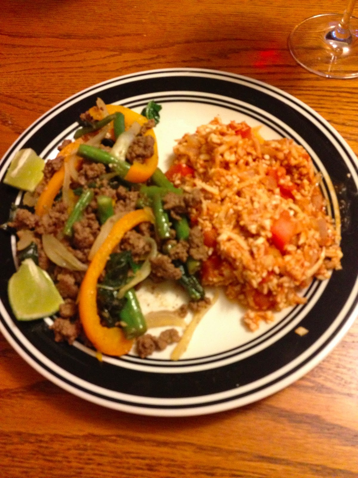 Two Kitchens, One Passion: Spicy Thai Basil Beef with Red ...