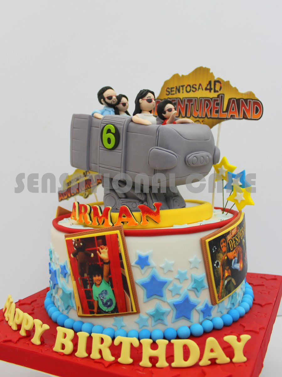 The Sensational Cakes Sentosa 4d Adventureland Extreme Log Ride 3d
