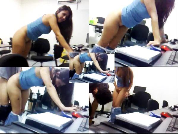 a133 Hermosa secretaria mexicana cogiendo con el jefe [cámara escondida]