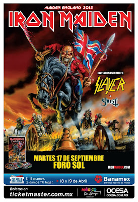 Iron Maiden Slayer y Ghost en México 2013 Foro Sol
