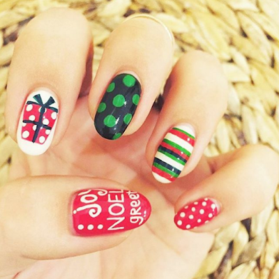 Ongles Noël Instagram Nail Art
