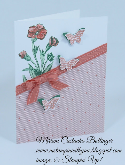 Miriam Castanho Bollinger, #mstampinwithyou, stampin up, demonstrator, sssc, all occasions card, butterfly basics stamp set, gold soiree specialty esp, bitty butterfly punch, blender pens, su