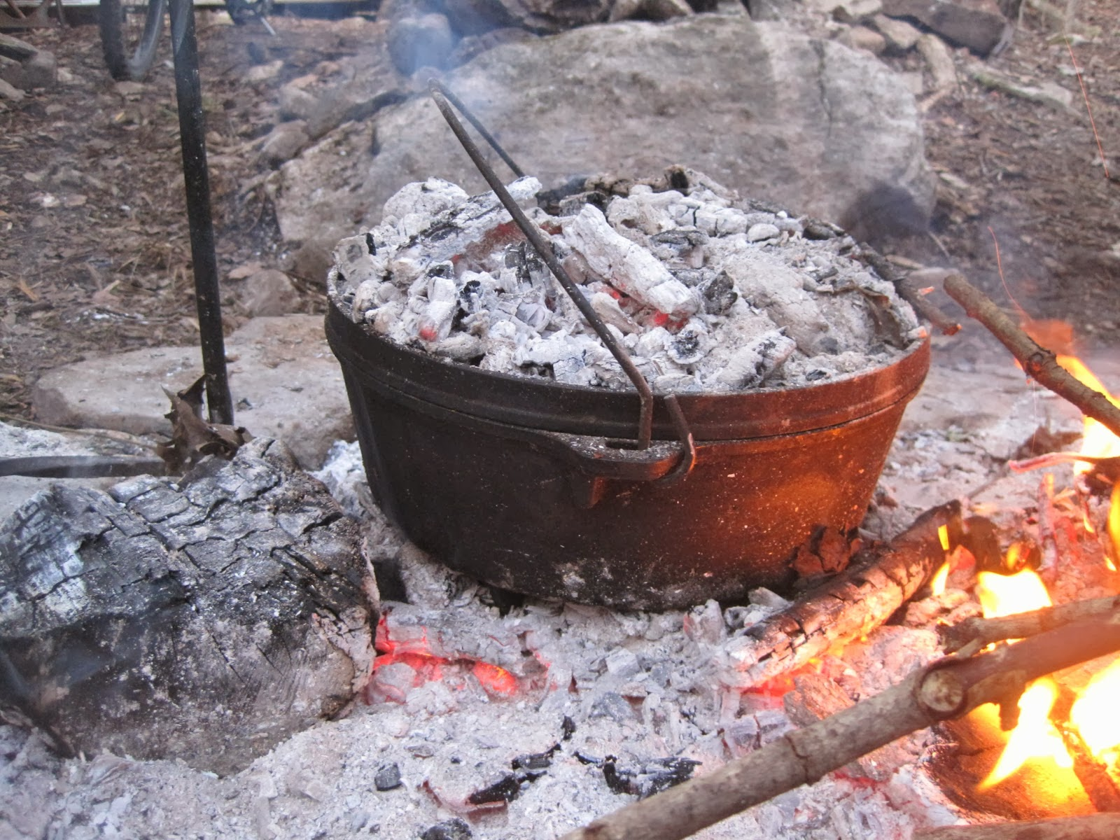 Campfire cooking class at payne 39 s prairie preserve rural for How to cook in a dutch oven over a campfire