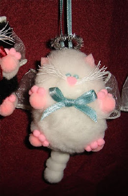 Cat angel pom poms 3