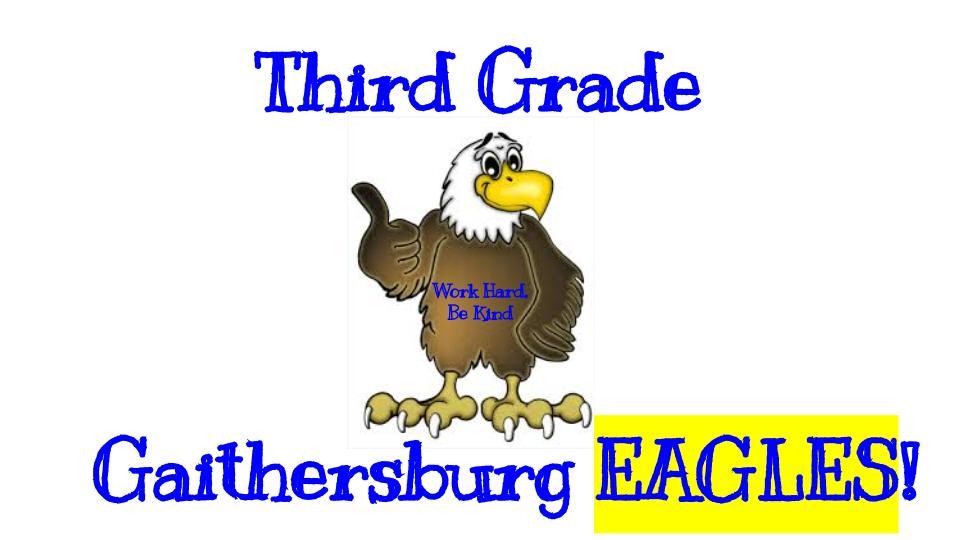 Third Grade!