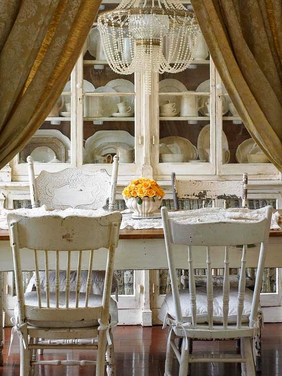 This Table Is Surrounded By Wonderful French Chairs Covered In Mismatched  Fabric That Lends More Towards Texture. Add In One Of My Favorites, The  Banquette, ...