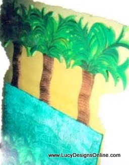 plywood palm tree headboard