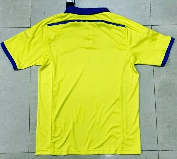 Distributor Jersey Grade Ori Musim 2014 - 2015 Chelsea Away Pasangan Baju Yellow